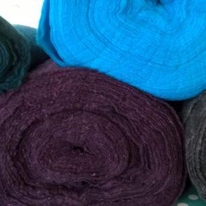 Nålfilt med silke
